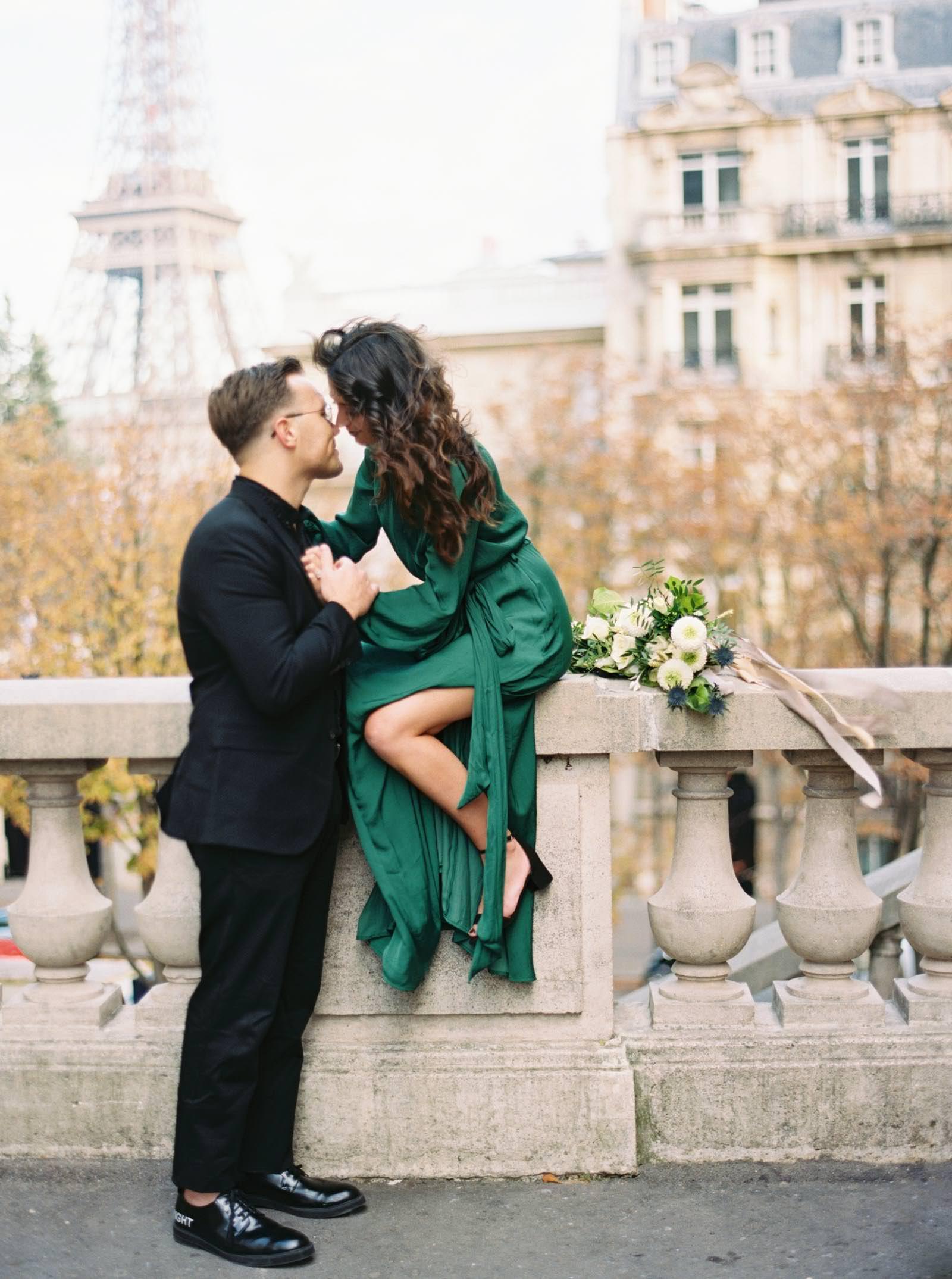 Paris engagement photos - film photography - KR Moreno Photo