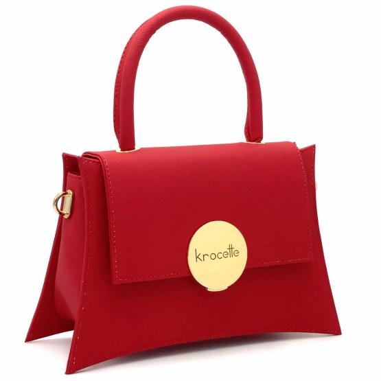 Gala Rossa Oro - Borsa in pellemela - krocette