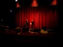 Morgan Matthews und der Programmdirektor vom Festival im Gespräch