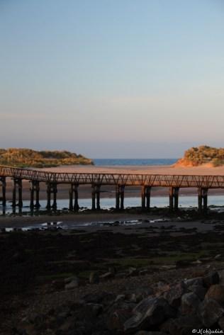 Lossiemouth, der Strand nur über eine Brücke zu erreichen