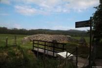 Einfach so, ein Steinkreis und Grab, mitten in der Landschaft.