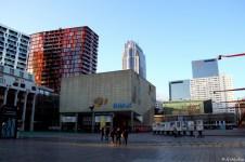 der Schouwburgplein, da zwischen den Kinos bin ich gependelt