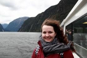 J(ch)ulia im stürmichen Milford Sound