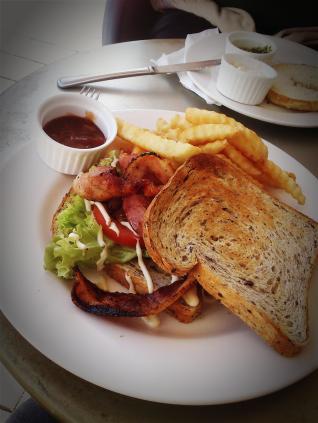 Lunchtime! BLT (BaconLettuceTomato) Sandwich