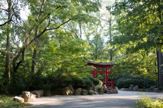 Outside the Japanese garden