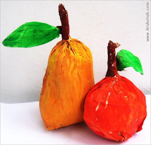 Fall fruit color paper