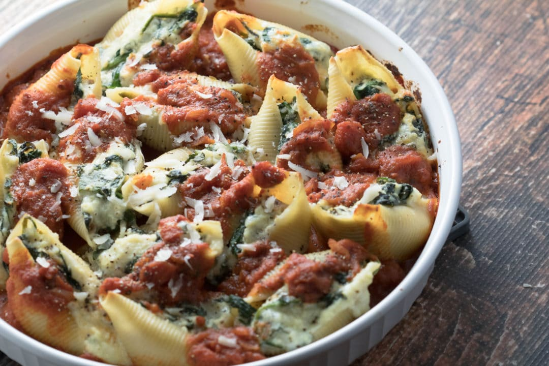Image result for Ricotta' and Spinach Stuffed Shells