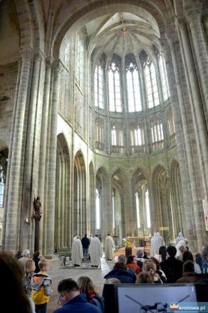 Mont Saint Michel wnętrze