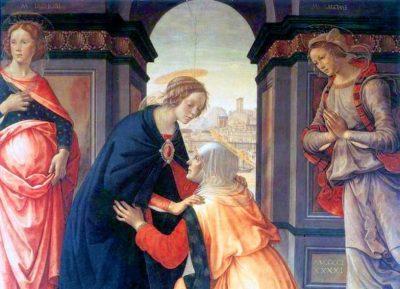 Domenico ghirlandaio nawiedzenie Elżbiety