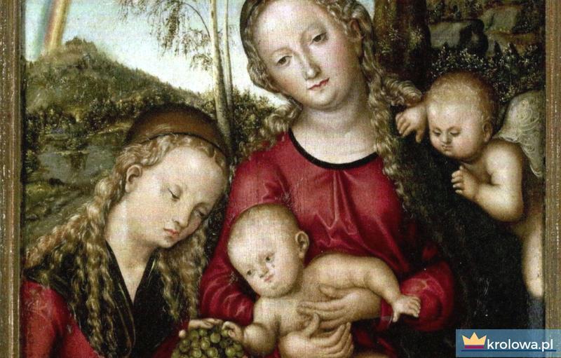 Madonna z pejzażem w tle