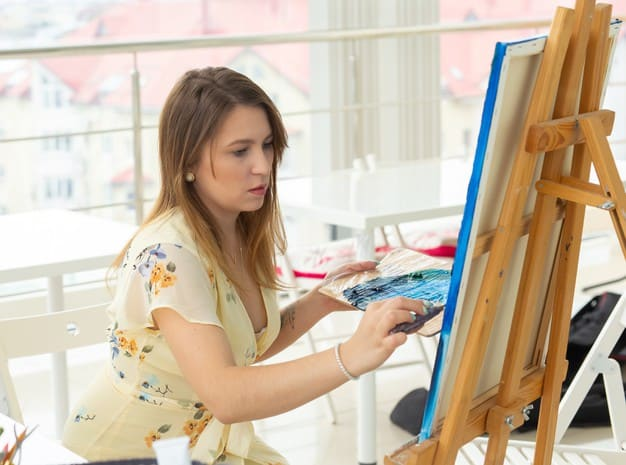 Comfortable Painting in cavases & Table Top Easel - Paint by Numbers