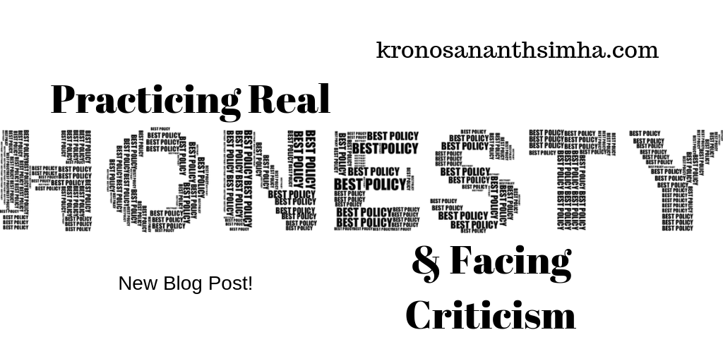 Practicing real honesty and facing criticism