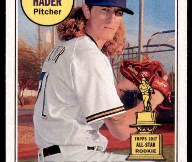 Topps Heritage Josh Hader Milwaukee Brewers  Card Front Image