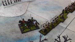 Turn 2 Riders start to flank