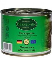Консерва Баскервіль д/котів зі смаком оленини та м'яса птиці 400г