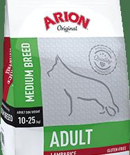 Корм Аріон Оріджинал Едалт Дог д/собак середніх порід 10-25 кг Ягня та рис 12 кг (зелений)