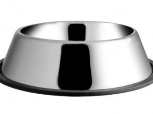 Миска металева на резинці 0,70 л 17 см ММ03