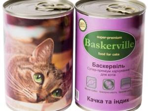 Консерва Баскервіль д/котів зі смаком качки та індички 400г