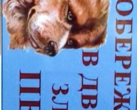 Табличка «Обережно!В дворі злий пес»
