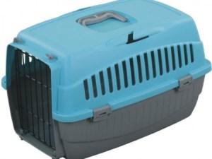 Переноска д/котів OGGI М  блакитна 54x38x33см T23М