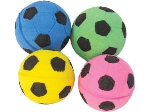 Іграшка д/котів м'яч футбол 4 см (4 шт)
