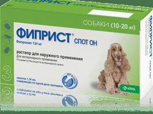 ФИПРИСТ, спот он, для собак, 134мг/1,34мл №3 (10-20 кг)