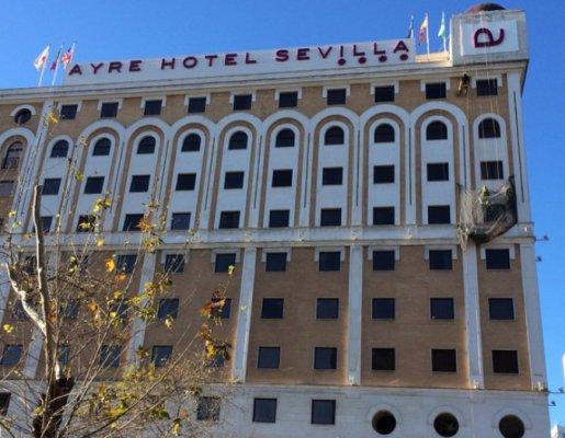 rehabilitacion de fachadas hotel ayre sevilla