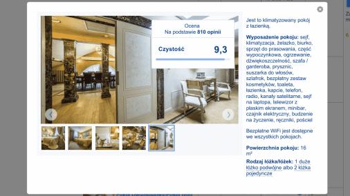 Wileński Hotel Ramada reklamuje się w portalu Booking.com. Ramada to Lexus wśród hoteli.