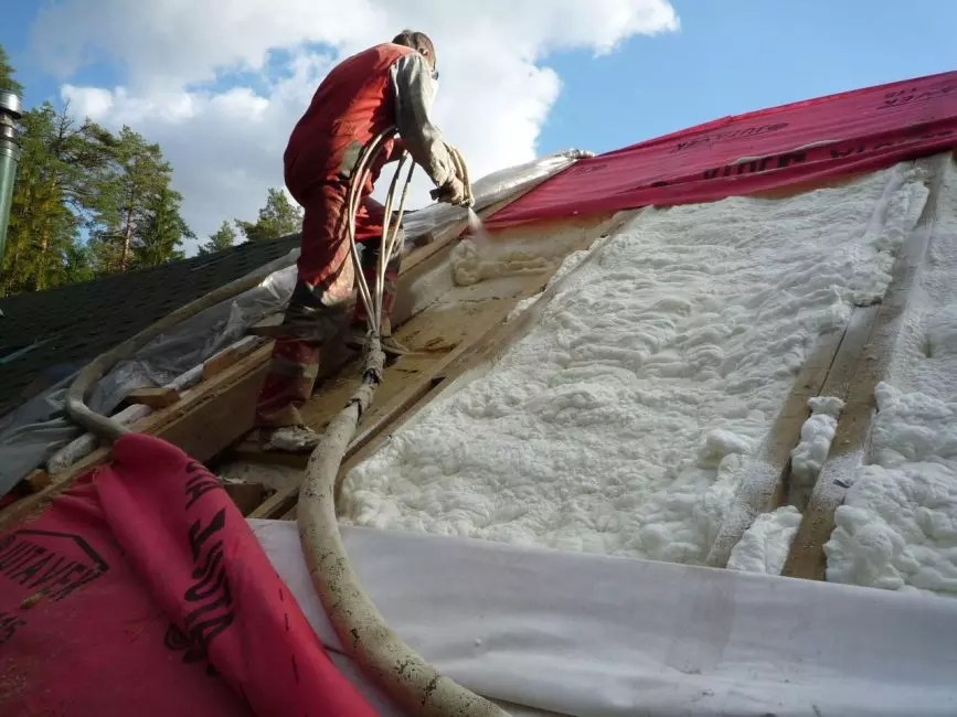 Heat insulation roof polyurethane foam.
