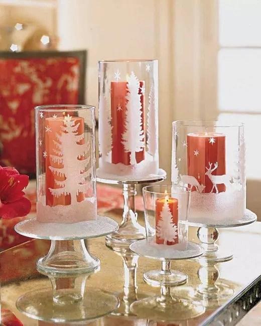 Décoration de Noël de chandeliers-lunettes