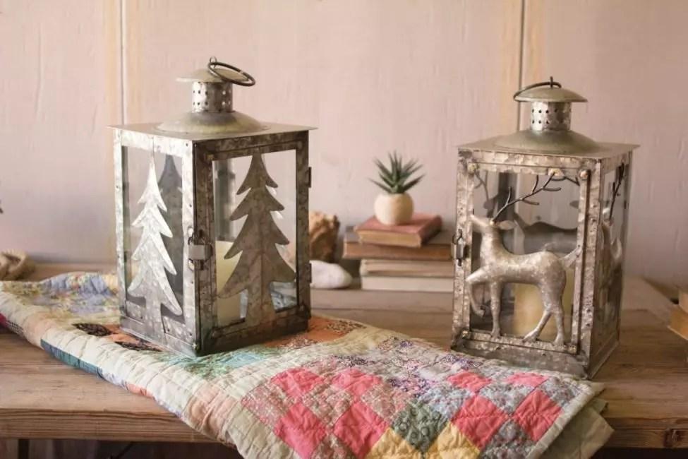 Мырышталған шамдардағы ою-өрнектер орман саябағының атмосферасын құрады