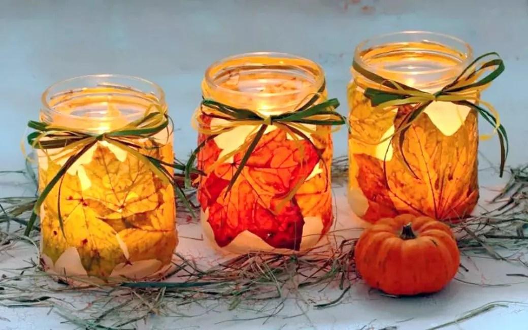 Superbes bocaux brillants vous évitera des chandelles d'automne