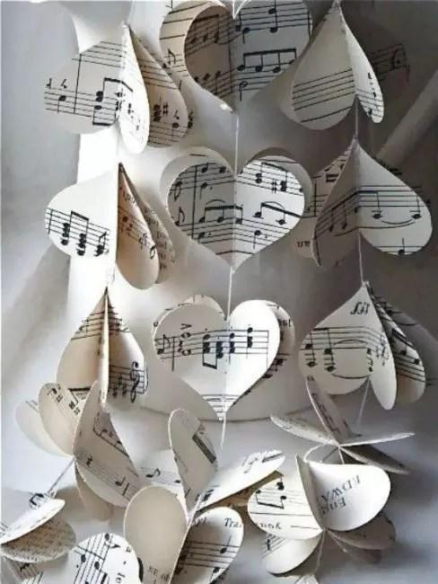 Cœurs inhabituels du papier-citerne