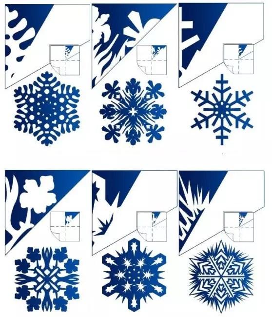 Какие могут быть узоры самодельных снежинок