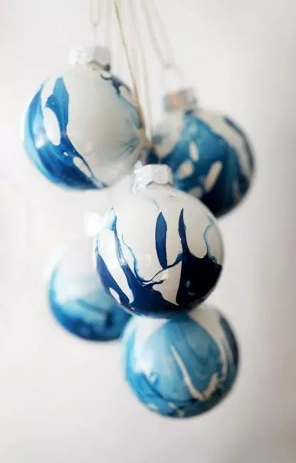 "Marble decorations ""Indigo"""