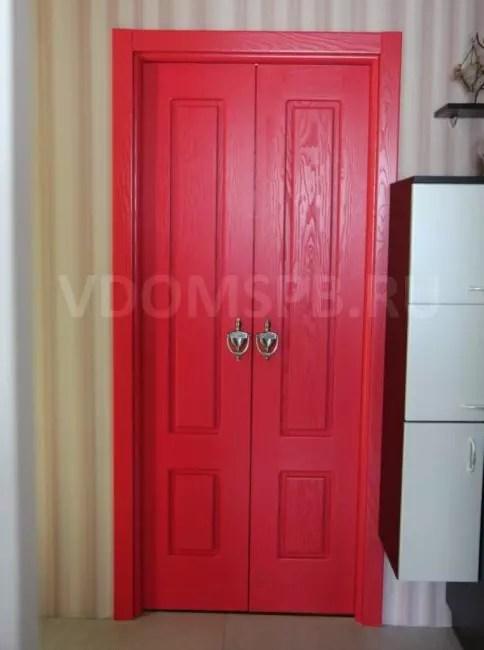 Tvåvalsad dörr i skruven av asken målad av RAL-katalogen