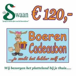 Boeren Cadeaubonnen 120 - Een Cadeaubon is het ideale kerstpakket voor elke medewerker - Bestel bij BoerenCadeaubon- www.Krstpkkt.nl