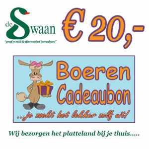 Boeren Cadeaubonnen 20 - Een Cadeaubon is het ideale kerstpakket voor elke medewerker - Bestel een BoerenCadeaubon- www.Krstpkkt.nl