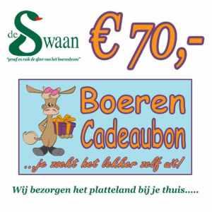 Boeren Cadeaubonnen 70 - Een Cadeaubon is het ideale kerstpakket voor elke medewerker - Bestel bij BoerenCadeaubon- www.Krstpkkt.nl