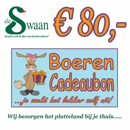 Boeren Cadeaubonnen 80 - Een Cadeaubon is het ideale kerstpakket voor elke medewerker - Bestel bij BoerenCadeaubon- www.Krstpkkt.nl
