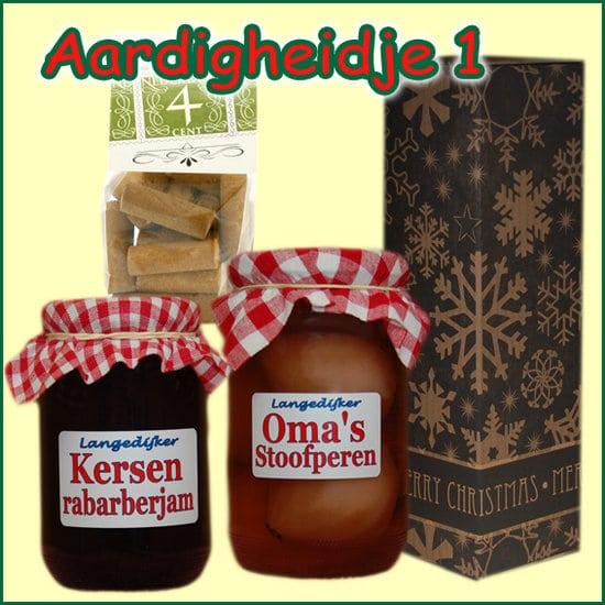 Kerstpakket Aardigheidje 1 - kerstpakket gevuld met lokale streekproducten - Relatiegeschenk Specialist - www.krstpkkt.nl