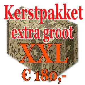 Kerstpakket Verrassing extra groot - 180 - Kerstpakket XXL is een zeer royaal Kerstpakket extra groot - www.kerstpakkettencadeaubon.nl