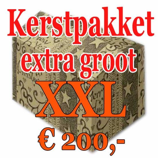 Kerstpakket Verrassing extra groot - 200 - Kerstpakket XXL is een zeer royaal Kerstpakket extra groot - www.kerstpakkettencadeaubon.nl