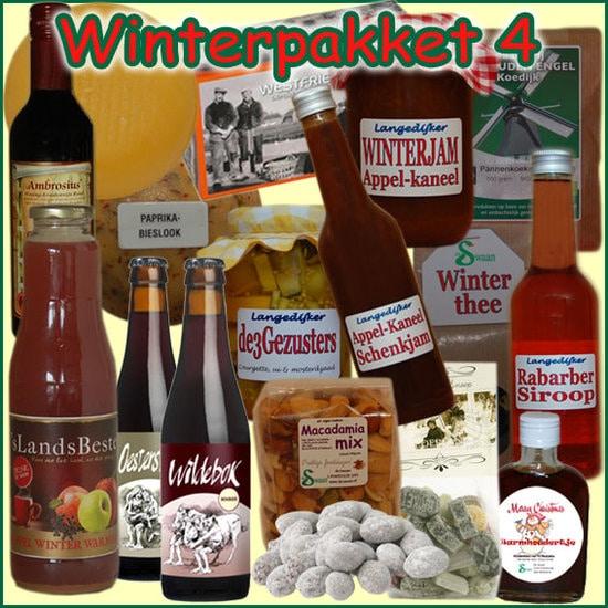 Kerstpakket Winter 4 - Streekpakket gevuld met unieke winterse streekproducten - Kerstpakket luxe - www.krstpkkt.nl