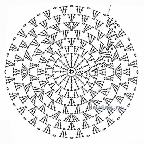 Схема вязания шапочки ажурной