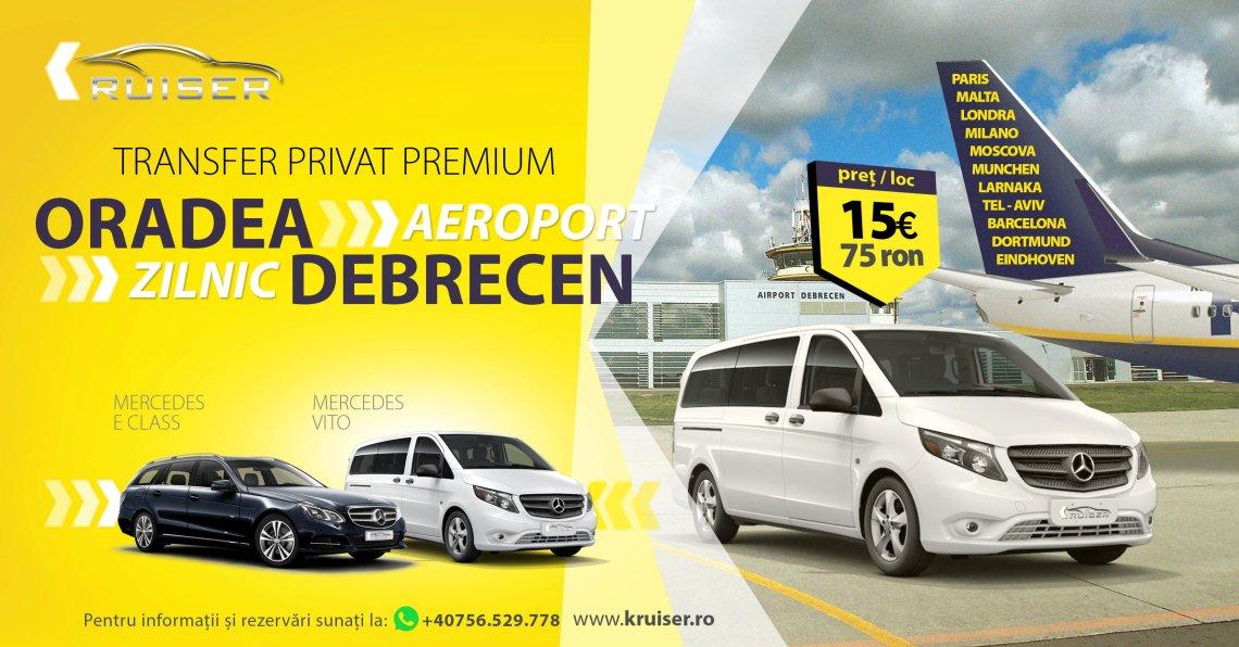 Transport Aeroport Oradea «-» Debrecen«-» Aeroport
