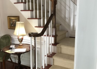 New Hard Wood Floors and Carpeting on Stairs