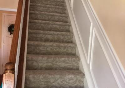 New Carpeted Stairs, Carpeted Floors, and Hardwood Floors
