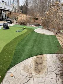 3 41 - Back Yard Golf Practice Facility in Manassas & LVP for a Bathroom In Montclair