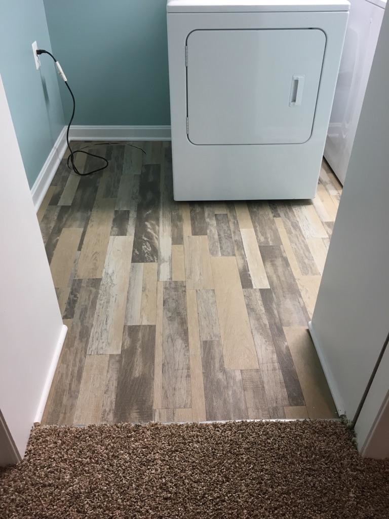 New Carpet and Wood Floor